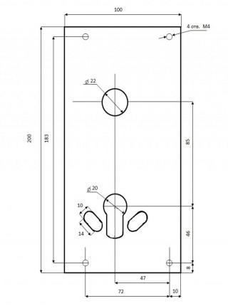 Бронепластина CISA Protect 100х200х2мм