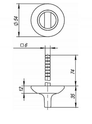 Поворотник FUARO BKW6 AR-AB/GP-7 Бронза-золото (без ответной части)