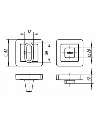 Поворотник PUNTO BK6 QR GR/CP-23 Графит-хром