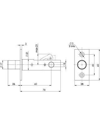 Задвижка торцевая APECS L-0260-CR