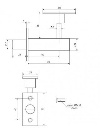 Задвижка торцевая APECS FL-0360-CR
