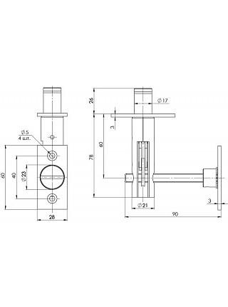 Задвижка торцевая FUARO TDB 860-24 CP