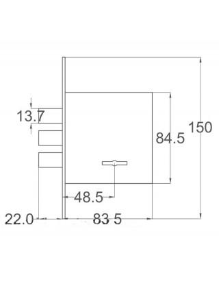 Замок врезной CLASS ЗВ8-8D