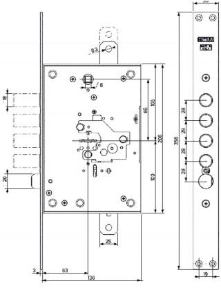 Замок врезной MOTTURA 52.J771 My Key
